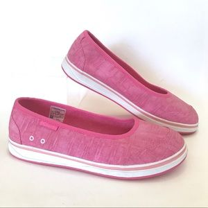 Columbia Pink Ballet Flat Sneaker Casual Canvas 9